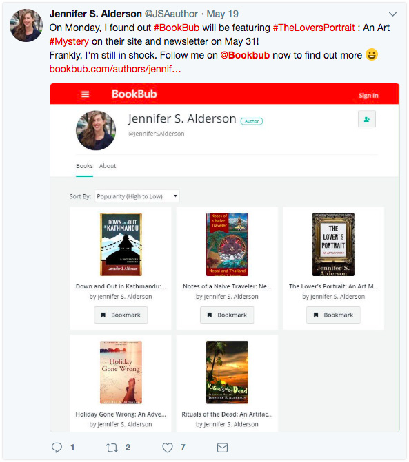 Tweet with BookBub Author Profile image