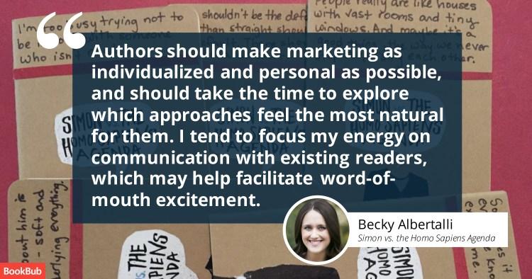 Becky Albertalli's Book Marketing Tip
