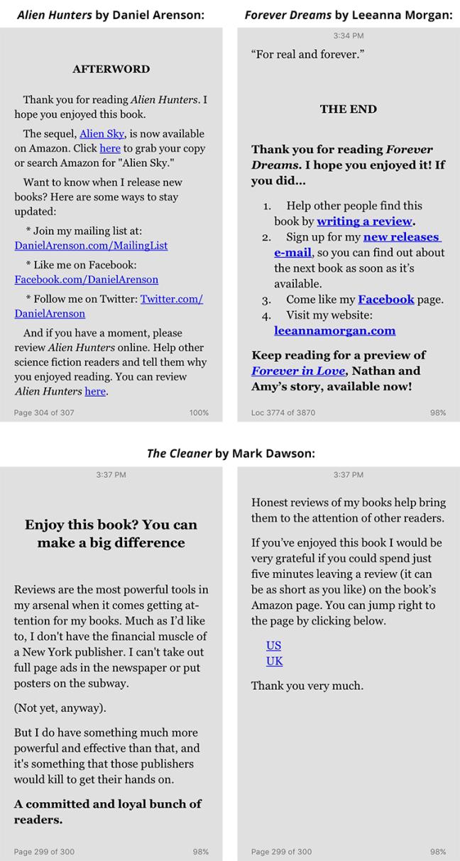 Reader Review Outreach