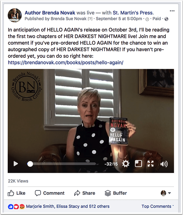 Brenda Novak's Giveaway Video