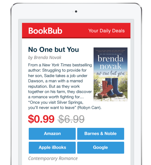 Brenda Novak's BookBub Featured Deal