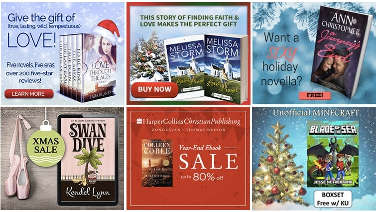 Gift-themed BookBub Ads