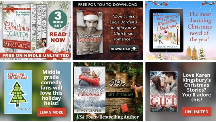 Holiday themed BookBub Ads