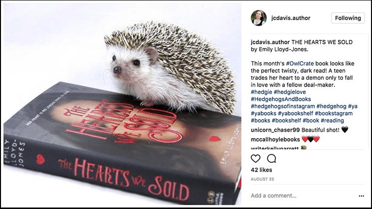 Cute bookstagram example