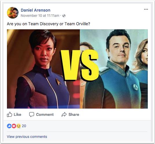 Daniel Arenson's Facebook post