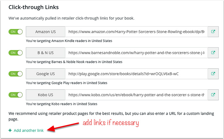 BookBub Ads - Clickthrough Links