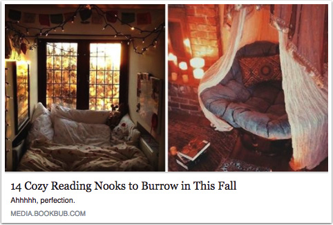Images of reading nooks or bookshelf designs