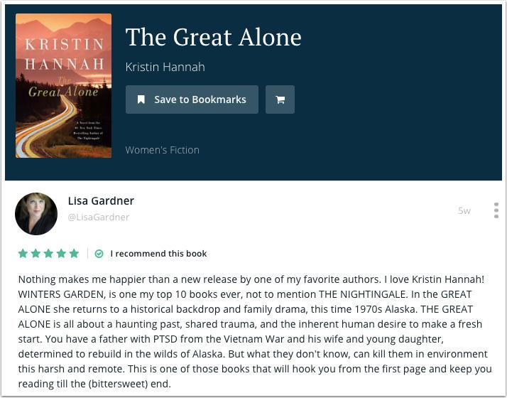 Lisa Gardner's Recommendation