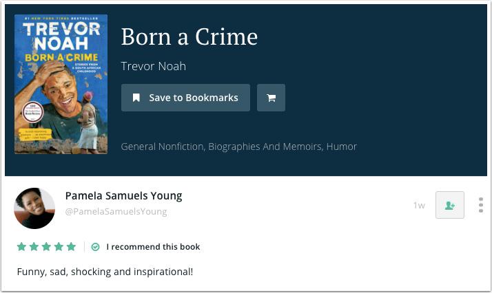 Pamela Samuels Young's Recommendation