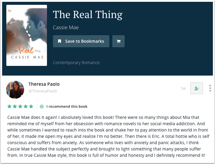Theresa Paola's Recommendation