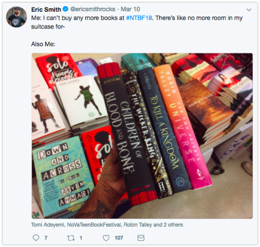 Eric Smith - Post pics while shopping for books (something readers also enjoy!)