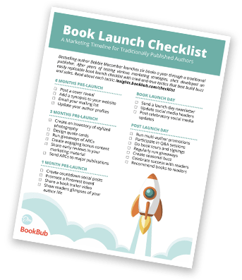 Example Book Launch Checklist from Debbie Macomber