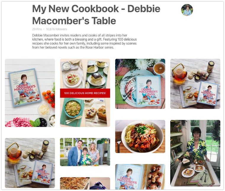 Cookbook Pinterest board