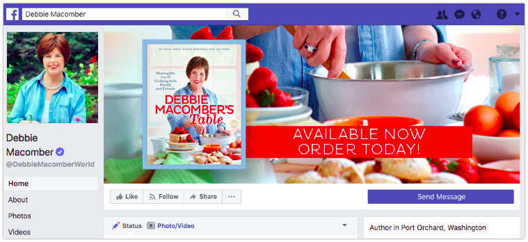 Facebook header image with new release