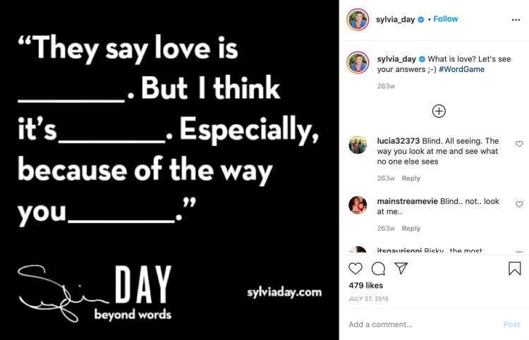 Author Game on Instagram