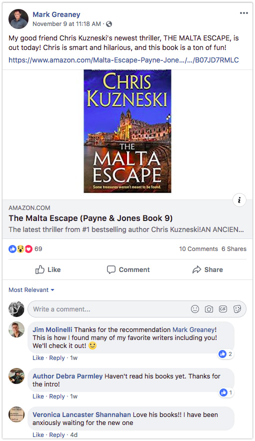 Facebook Book Suggestion