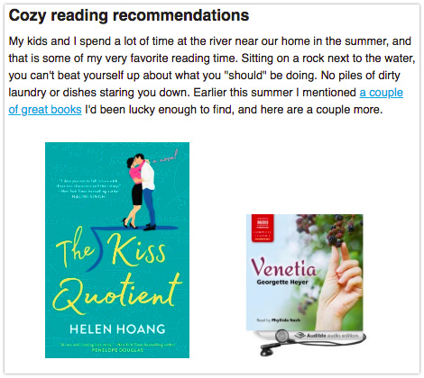Newsletter Book Recommendation