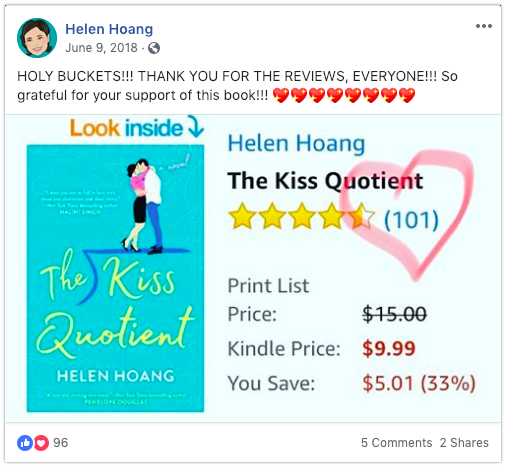 thank facebook get reader reviews helen hoagn