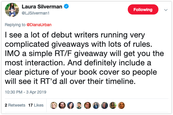 book marketing tip giveaways debut authors