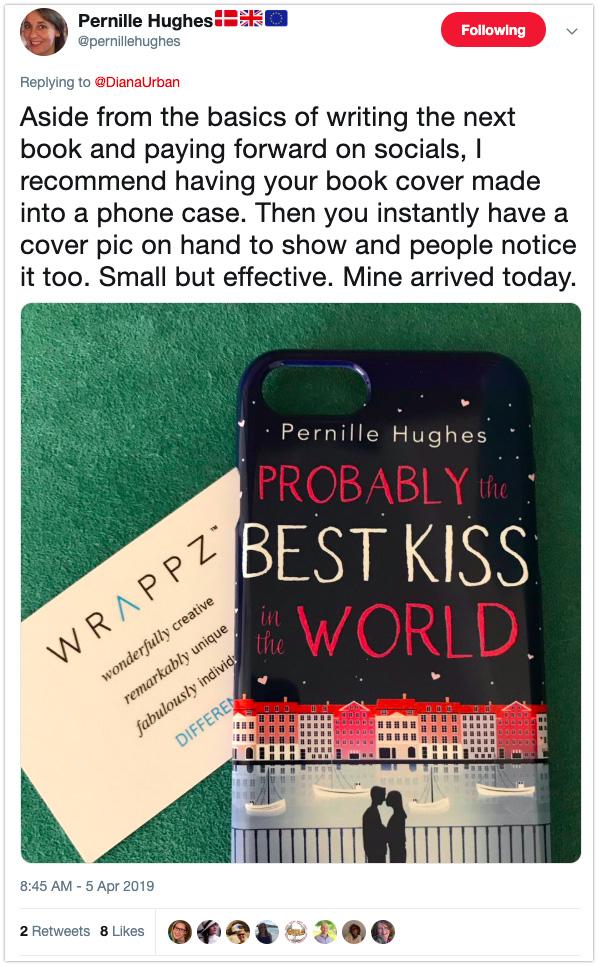 book marketing tip debut author phone branding
