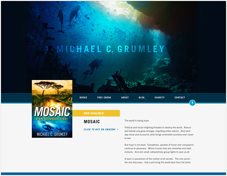 Michael C. Grumley author website design