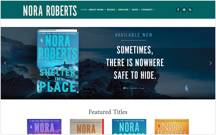 Nora Roberts author website design
