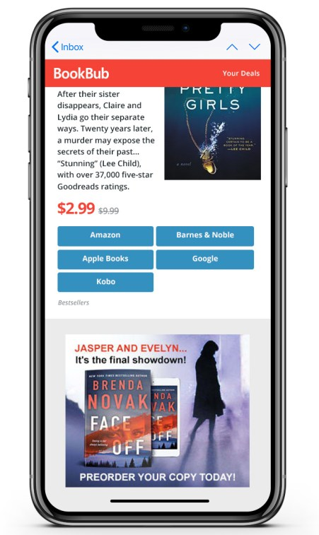 BookBub Ads preorder promotion Brenda Novak