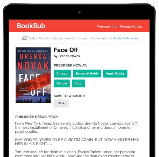 Brenda Novak BookBub Preorder Alert