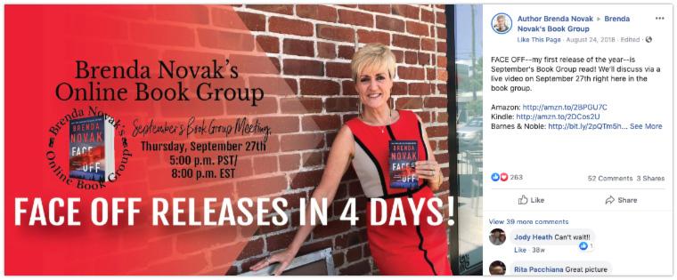 Brenda Novak author Facebook group