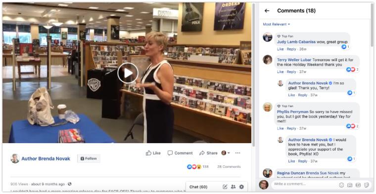 author facebook live launch party