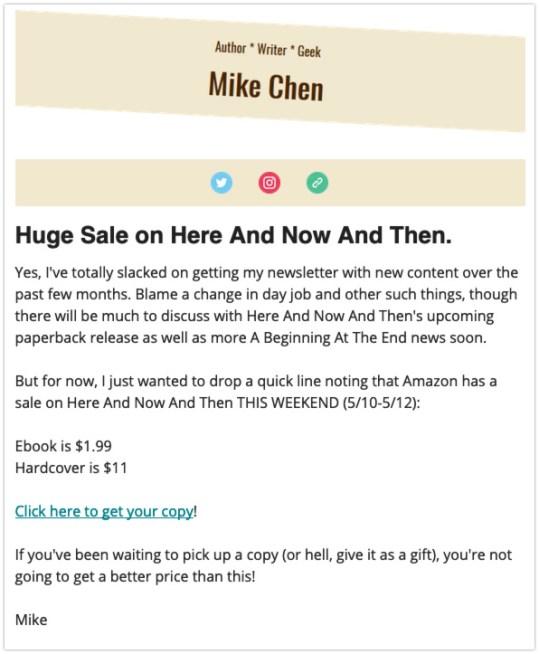 send a newsletter bookbub deal