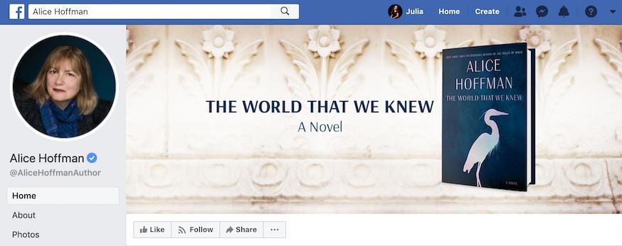 Alice Hoffman Facebook Page