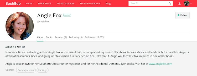 Angie Fox BookBub Author Profile