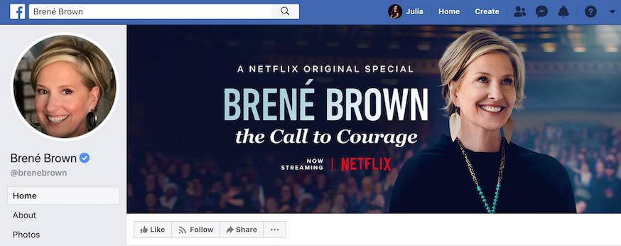 Brene Brown Facebook Page