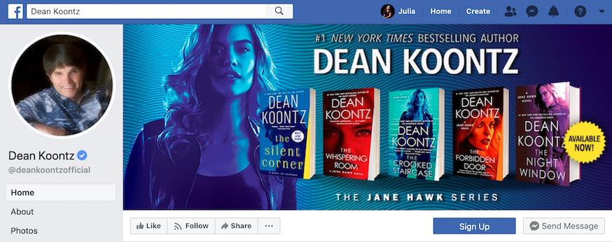 Dean Koontz Facebook Page
