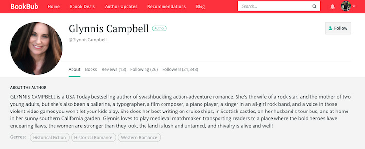 Glynnis Campbell BookBub Author Profile