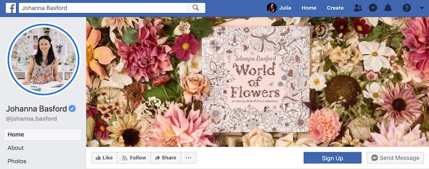 Johanna Basford Facebook Page
