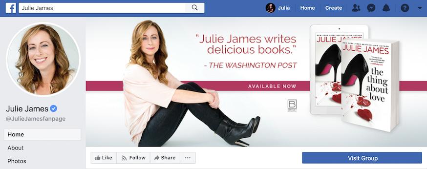 Julie James Facebook Page