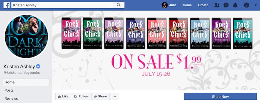 Kristen Ashley Author Facebook Page