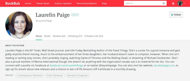 Laurelin Paige BookBub Author Profile