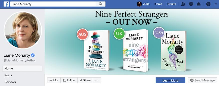 Liane Moriarty Facebook Page