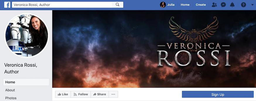 Veronica Rossi Facebook Page