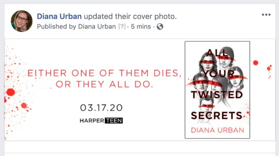 author Facebook cover photo page preview