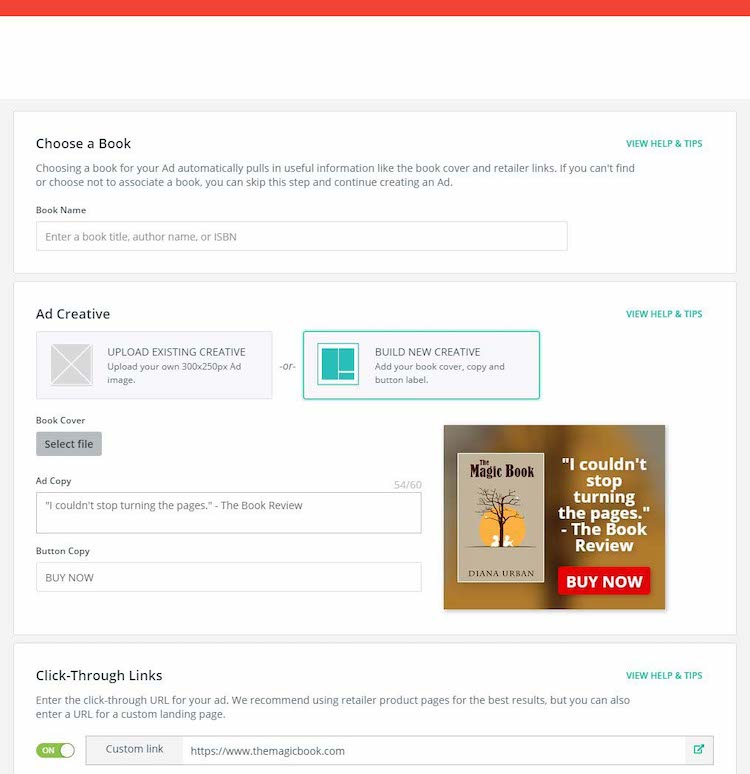 BookBub Ads Creative Builder