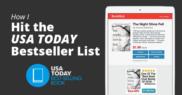 USA Today Bestseller List Christina McDonald Feature