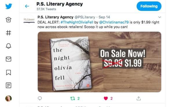 Christina McDonald P.S. Literary Tweet