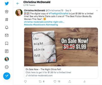 Christina McDonald Twitter Page