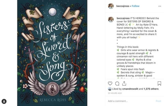 Instagram Book Cover Reveal