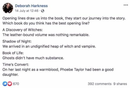 Ways Authors Use Facebook Pages to Promote Their Books Deborah Harkness