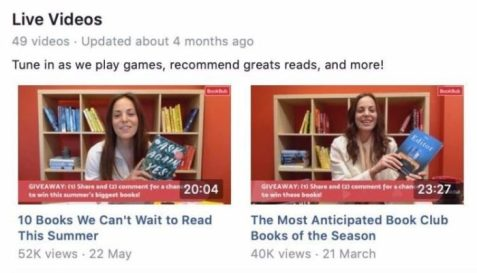Ways Authors Use Facebook Pages Promote Their Books FB Live